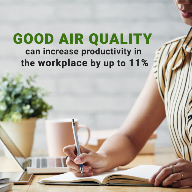 Indoor Air Quality increases productivity of the workplace