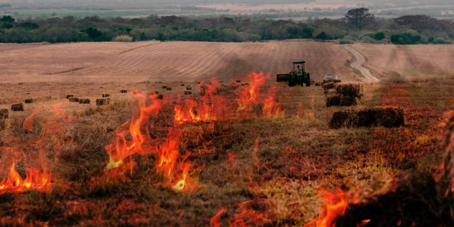 Air pollution due to stubble burning
