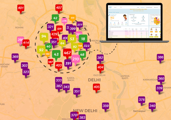 Proposed Hyperlocal Air Quality Monitoring Network in Delhi