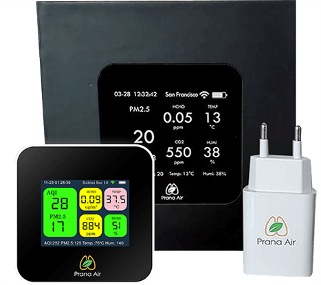 Prana Air indoor Air Quality Monitoring device