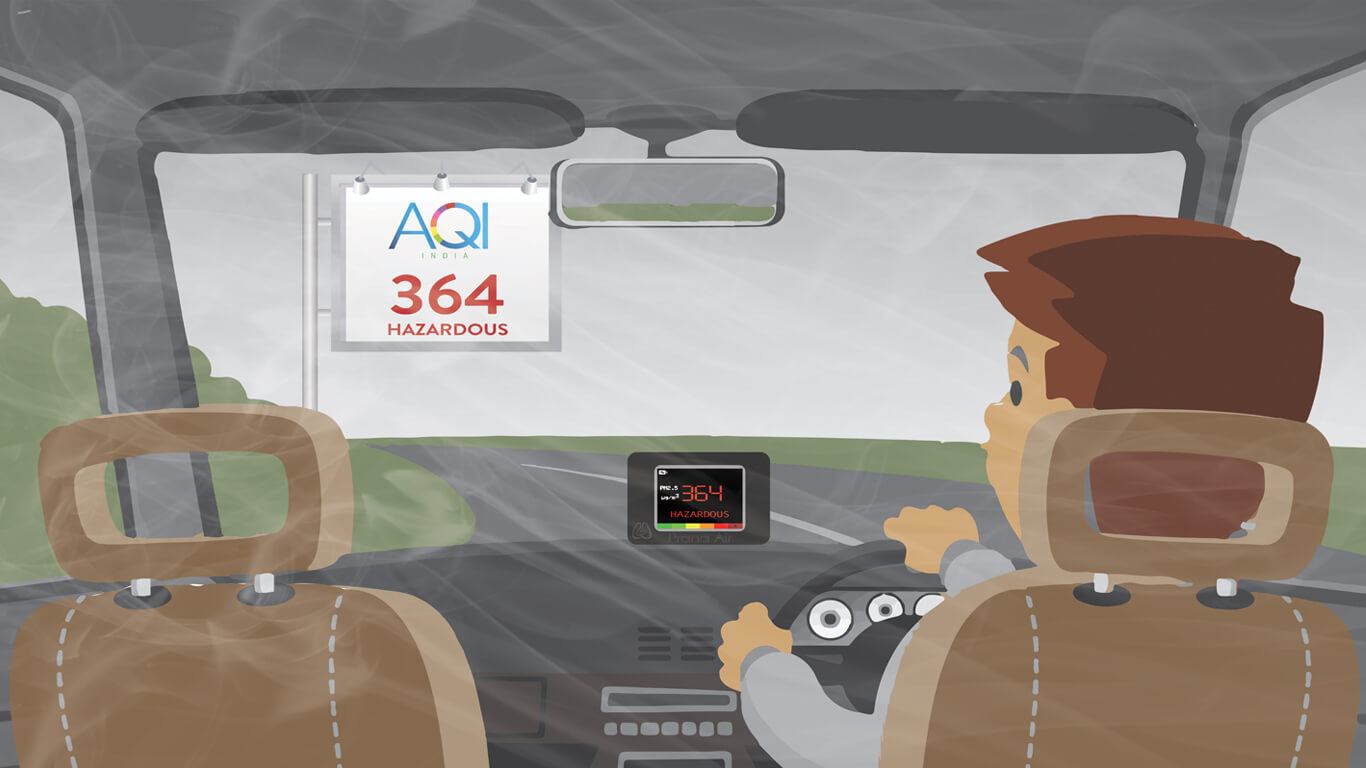 aqi in car with standard filter